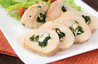 Hungry Girl's Healthy Spinach & Feta Stuffed Chicken Recipe