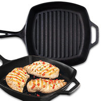 6. Lodge 10.5-Inch Cast Iron Grill Pan