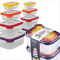 Joseph Joseph Nest Storage Plastic Food Storage Containers Set with Lids (16 piece)