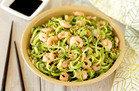 Hungry Girl's Healthy Spiralized Sunomono Salad 'n Shrimp Recipe