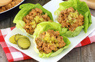 Hungry Girl's Healthy Cheeseburger Lettuce Wraps Recipe