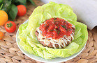 Hungry Girl's Healthy Saucy Italian Burger on a Lettuce Bun Recipe