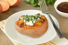 Hungry Girl's Healthy BBQ Chicken Stuffed Sweet Potato Recipe