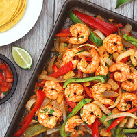 Hungry Girl's Healthy Sheet-Pan Pineapple Shrimp Fajitas Recipe