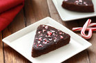 Hungry Girl's Healthy Flourless Candy Cane Chocolate Cake Recipe