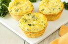 Hungry Girl's Healthy Kale & Cheddar Egg Bakes Recipe