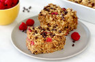 Hungry Girl's Healthy Raspberry Chocolate Chip Oat Bake Recipe