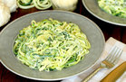 Hungry Girl's Healthy Too-Easy Z'paghetti Girlfredo Recipe