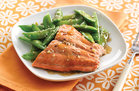 Hungry Girl's Healthy Sesame Salmon & Snap Peas Recipe
