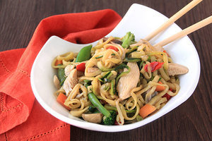 Healthy No-Noodle Pasta Swap Recipes: Zucchini So Low Mein with Chicken