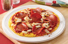 Hungry Girl's Healthy Pepperoni Breakfast Pizza Recipe