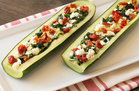 Hungry Girl's Healthy Spinach Feta Stuffed Zucchini Recipe