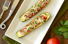 Hungry Girl's Healthy Italian-Style Stuffed Zucchini Recipe