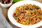 Hungry Girl's Healthy Z'paghetti Puttanesca Recipe