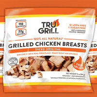 TRU GRILL 100% All Natural Diced Original Grilled Chicken Breasts