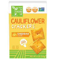 Real Food From the Ground Up Cauliflower Crackers