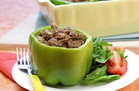 Hungry Girl's Healthy Philly Cheesesteak Stuffed Peppers Recipe