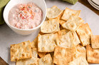 Hungry Girl's Healthy Crispy Lavash Chips with 2-Ingredient Dip Recipe