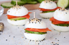 Hungry Girl's Healthy Bagels & Lox Egg 'wiches Recipe