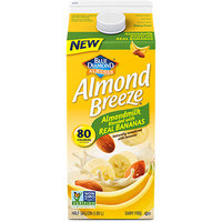 Blue Diamond Almond Breeze Almondmilk Blended with Real Bananas