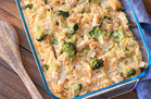 Hungry Girl's Healthy Cheesy Chicken Broccoli & Cauliflower Rice Casserole Recipe