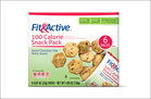 Fit & Active 100 Calorie Snack Packs - Baked Chocolate Chip Wafer Snacks (8.125)