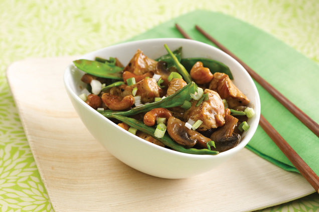 Hungry Girl's Healthy Veggie-Loaded Cashew Chicken Recipe