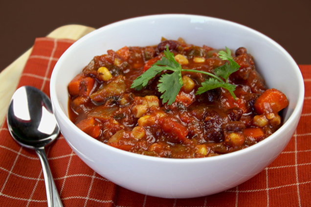Healthy Meatless Veggie Chili Recipe