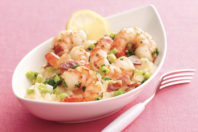 Hungry Girl's Healthy Shrimp & Grits... for Hungry Chicks Recipe