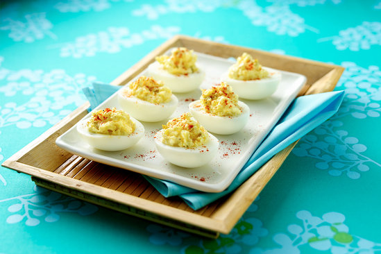 Hungry Girl's Healthy Cauliflower Deviled Eggs Recipe