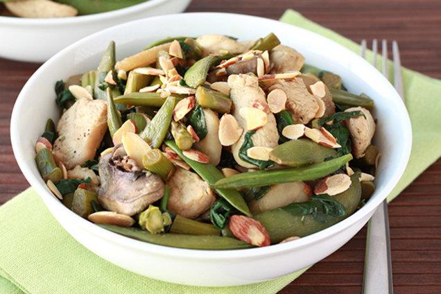 Healthy Chicken Almond Veggie Stir-Fry Recipe
