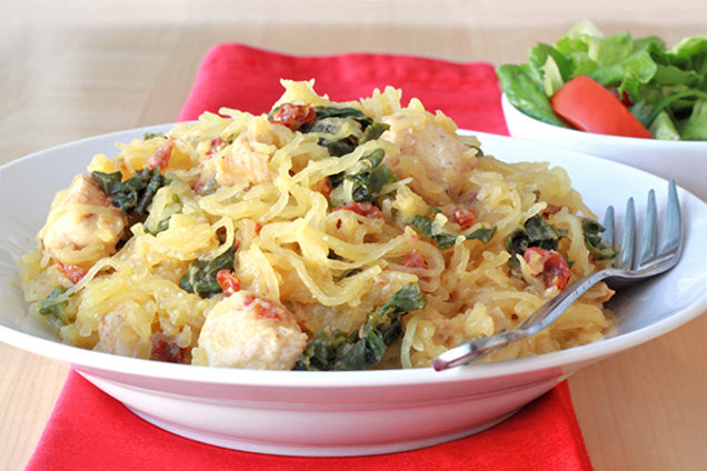 Healthy Kale Spaghetti Squash Recipe