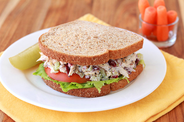 Hungry Girl's Healthy Top-Shelf Chicken Salad Sandwich Recipe
