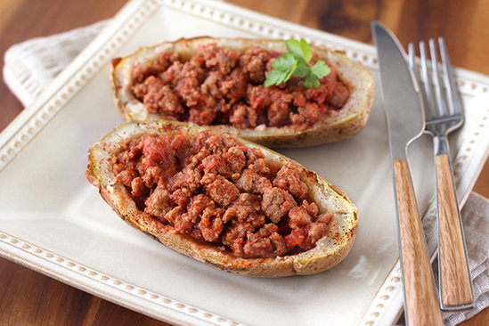 Sloppy-Jane-Stuffed Potatoes