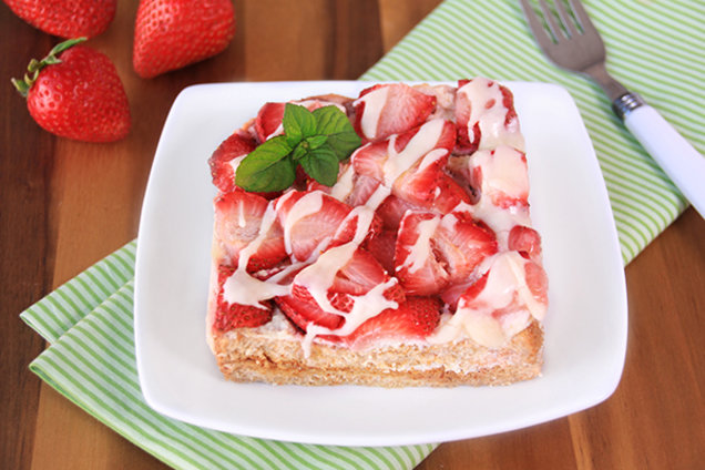 Glazed Strawberry French Toast Casserole