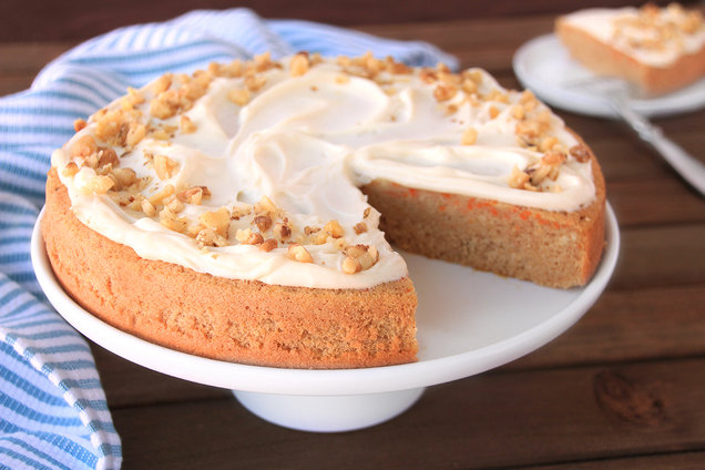 First-Rate Frosted Carrot Cake