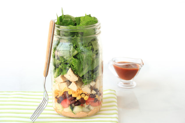 BBQ Ranch Chicken Salad in a Jar
