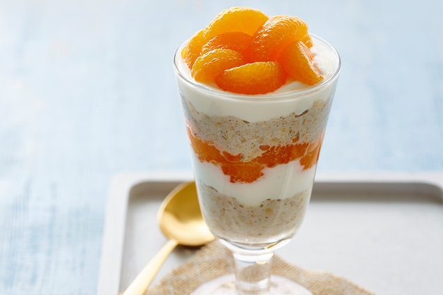 Hungry Girl's Healthy Dreamsicle Overnight Oatmeal Parfait Recipe