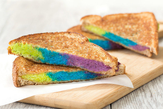 HG's Rockin' Rainbow Grilled Cheese Healthy Recipe