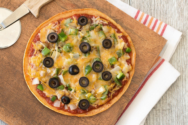 Hungry Girl's Healthy Fork 'n Knife Mexican Skillet Pizza