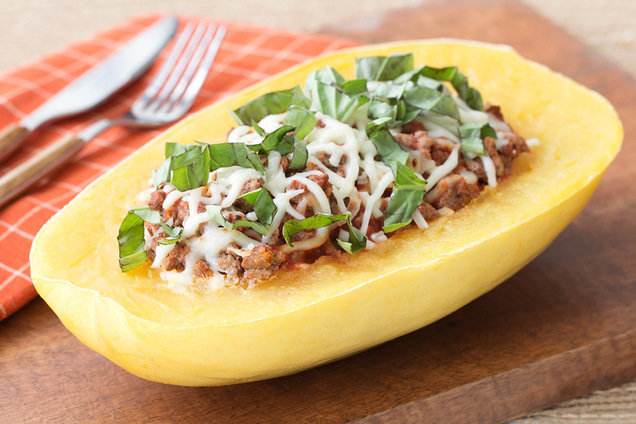 Hungry Girl's Healthy Lasagna-Stuffed Squash Recipe