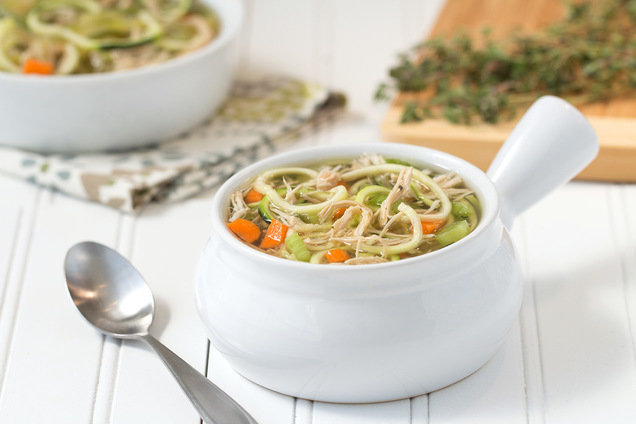 Hungry Girl's Healthy Chicken Veggie-Noodle Soup Recipe