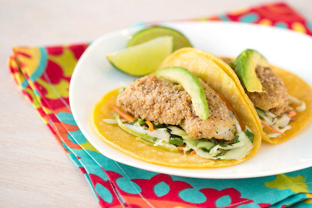 Hungry Girl's Healthy Crispy Fish Taco Recipe
