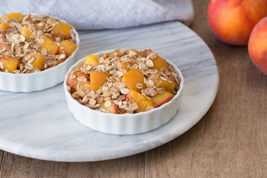 Hungry Girl's Healthy Foil-Pack Peach Cobbler Recipe