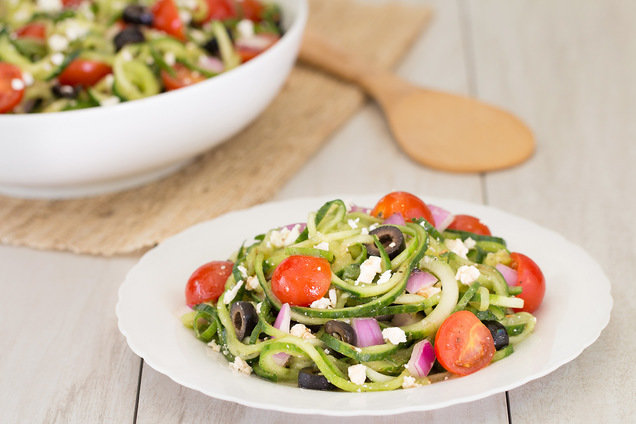 Hungry Girl's Healthy Go Greek Cucumber-Noodle Salad Recipe