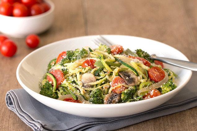 Hungry Girl's Healthy Z'paghetti Primavera Recipe