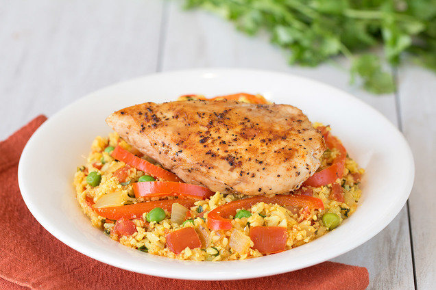 Hungry Girl's Healthy Arroz Con Pollo, Por Favor Recipe