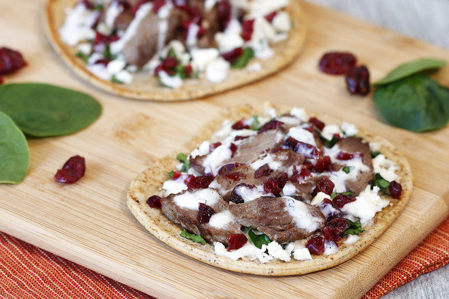 HG's Healthy Cranberry Gyro Pizzas Recipe