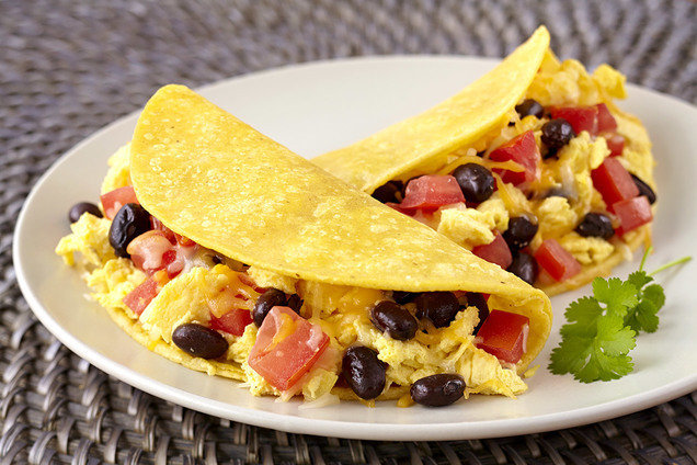 healthy breakfast soft taco recipe hungry girl
