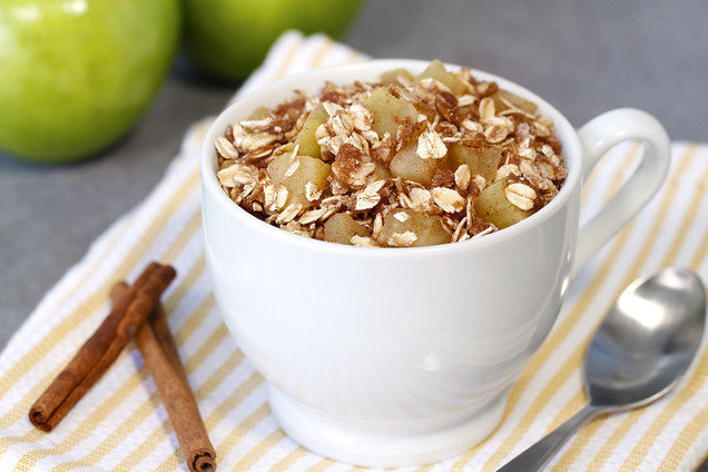 Hungry Girl's Healthy Apple Crumble in a Mug Recipe